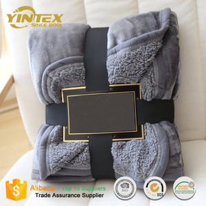 Flannel Sherpa Fleece Blanket Soft Office Nap Blanket