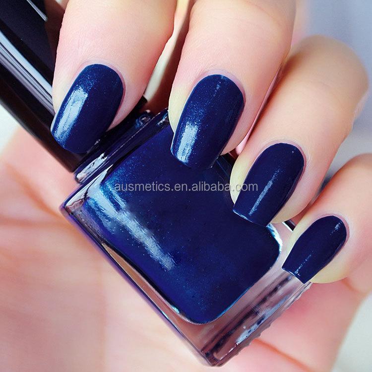 Manufacture Custom Private Label Dark Blue Nail Polish Top Lady Non ...