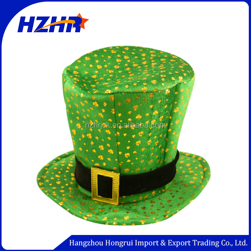 Beautiful top green hats Carnival Funny st.patrick's Day hat /clover hat /Ireland hat