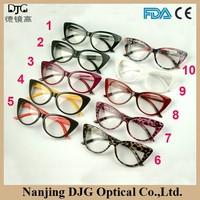 Fashion PC Clear Full-rim Cat Eye Glasses Frame Eyeglasses Frames For Young Girls