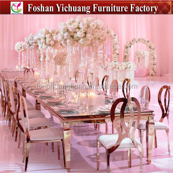Yc Zs13 Royal Event Wedding Dining Chair Gold Dining Stainless