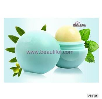 Factory price 100 organic lip balm in lip balm ball container lip balm applicator by makeup manufacturer