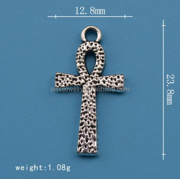 Antique Silver Egyptian Jewelry Symbol Of Life Ankh Charms
