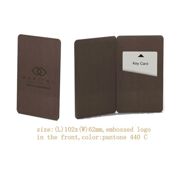 bipartition key card holder for hotel all types leather products