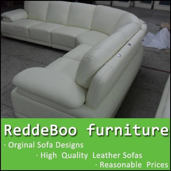 mobili soggiorno divano, in pelle bianca funiture, divano ad ... - In Pelle Bianca Divano Ad Angolo Design