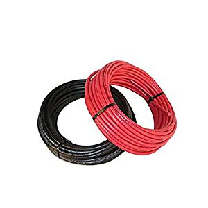 Black and Red #10 AWG Solar Cable 1000 VDC XLPE Type Insulation Bulk Wire Sold in 10' Increments