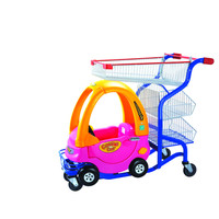 Supermarket children trolley with toy cart