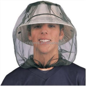100% Polyester mesh mosquito head net outdoor mask