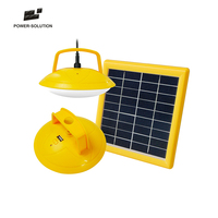 mini two houses lighting 3w solar kit with mobile charger