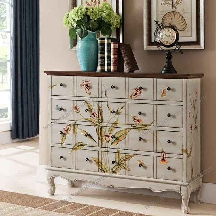 gothic style furniture vitrine cabinet shabby chic multi drawer chest buy drawer chest multi. Black Bedroom Furniture Sets. Home Design Ideas