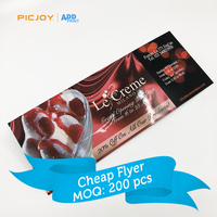 ice cream discount coupon leaflet online printer shanghai