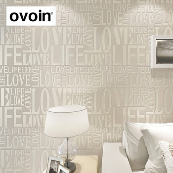 letters modern non woven decorative wallpaper for restaurantbarshop and study room - Decorative Wallpaper
