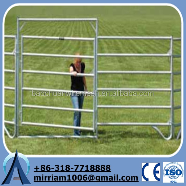 2015 Best Price galvanized heavy duty used livestock panels, used cattle fence, used horse fence panels