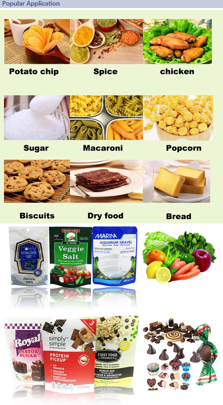 Clear Plastic Bags Cookies Colorful New Coming High Temperature Food Packaging Bag / Aluminum Foil Bags For Chips