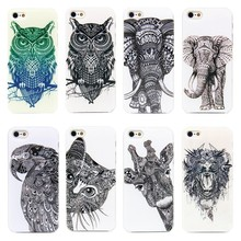 Vtg Style Head Case Aztec Elephant Giraffe Animal Hand Drawn Animal Back Case Cover For Apple i Phone iPhone 4 4s 5 5s