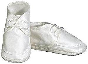 Boys Silk Dupioni Christening Shoe by Little Things Mean A Lot