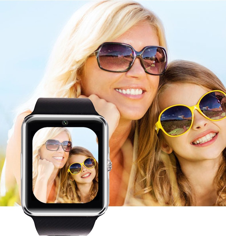 Bluetooth Smart Watch GT08 with SIM Card TF Memory Card Slot Camera Music Play Sleep Monitor Pedometer for Android Smart Phone