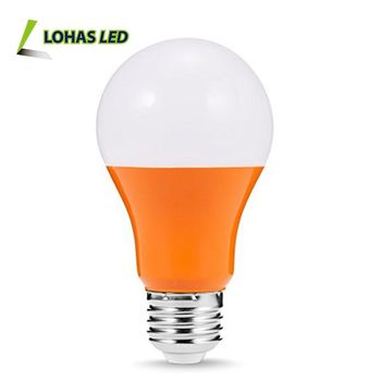 orange color led light bulb e26 5w a19 christmas halloween festival lighting decoration
