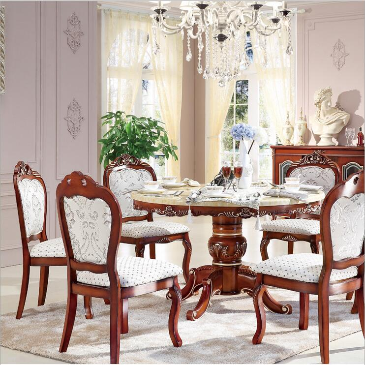 italian style dining room sets | Style Italian Dining Table round Solid Wood Italy Style ...