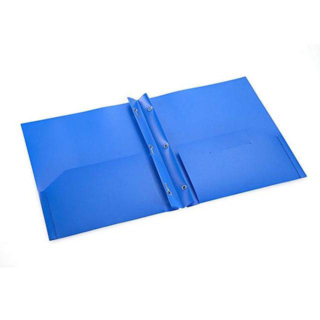 2 Pocket Folder Letter Size Poly File Portfolio Folder with Three-Prong Fasteners