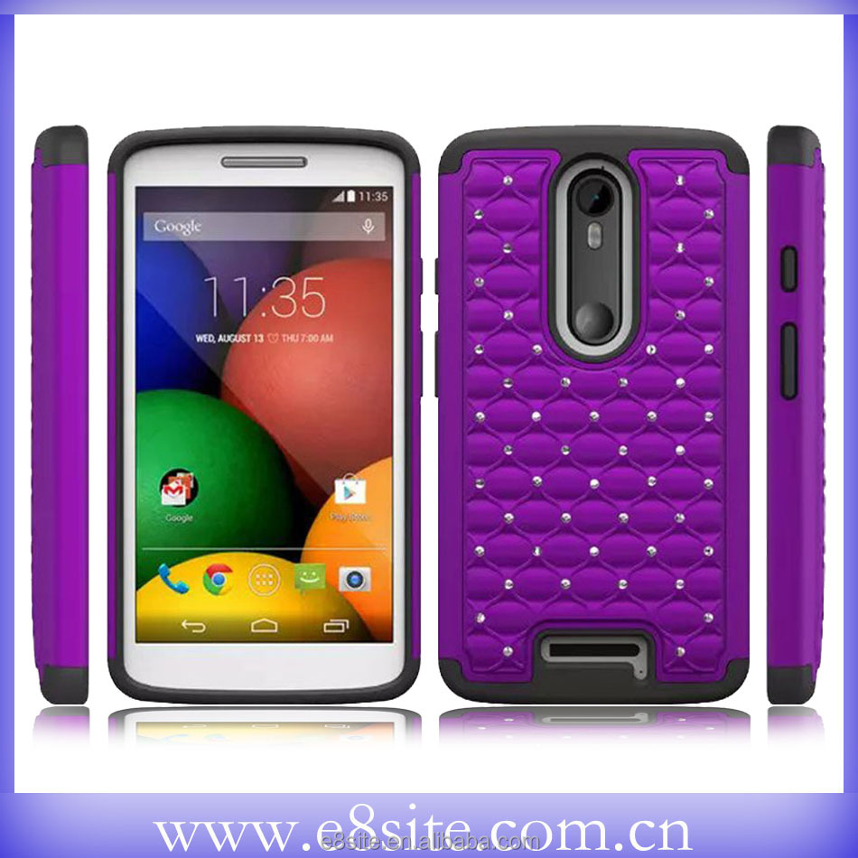 High Quality Diamond Combo Case For Motorola Droid Turbo 2 XT1585