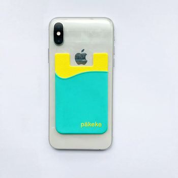 Custom Silicone Smart Phone Wallets 2 colors pocket