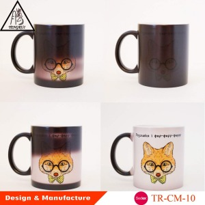 Wholesale prices super quality magic color changing ceramic mugs,New design color change cups