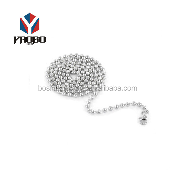 Professional Nice Quality Metal Top Fashion Ball Chain Stainless Steel