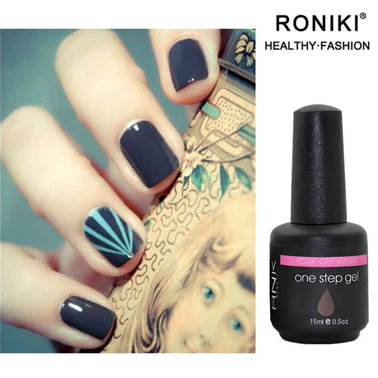 Top Brand Nessuna Base RONIKI No Top Coat Un Passo Del Gel Del Chiodo OEM