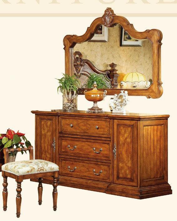 CBUIOM-004529-68657676 Américain classique en bois massif commode ...
