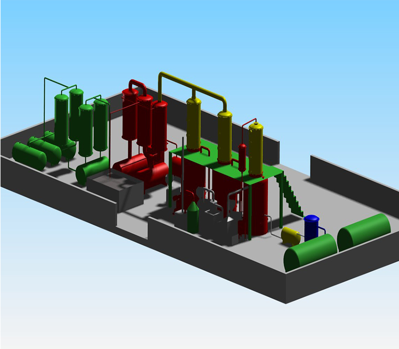 zero pollution oil Distillation Plant to Diesel from Pyrolysis rubber tyre Oil /used engine oil