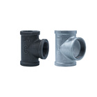 China cast malleable galvanized iron pipe fittings tee for steam gas oil