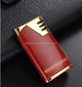 891-04 Red Color Metal Most Popular Custom Made Functional Torch Cigar  Lighter