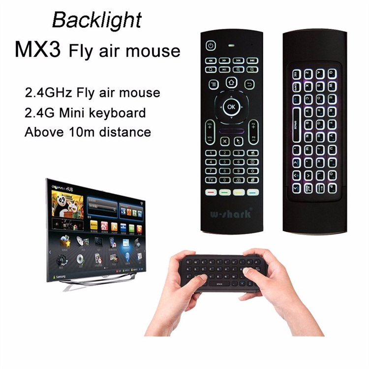 MX3 backlit mini BT keyboard 2.4G wireless keyboard and mouse combo