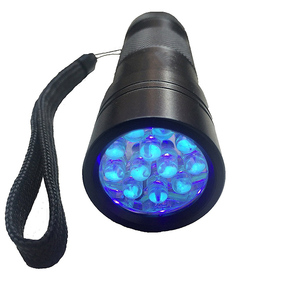 CYSHMILY UV Light Ultra Violet UV 12 LED Flashlight Torch Outdoor Garland Night Light Emergency Flashlight LED Light