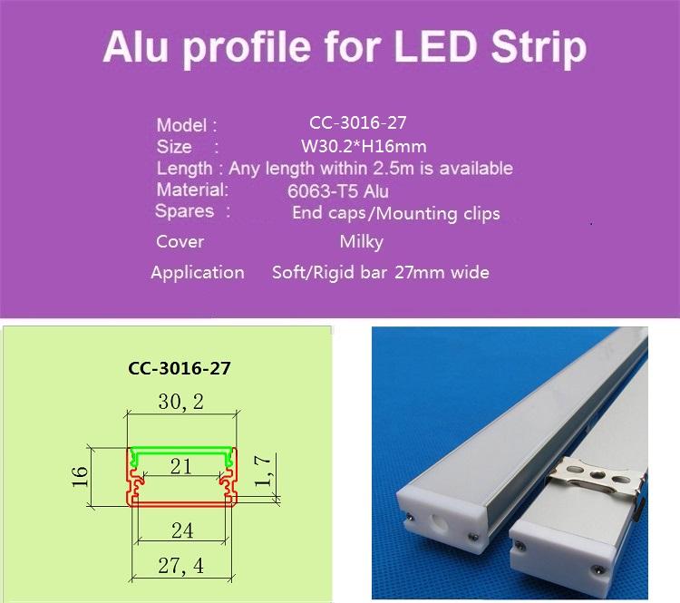 Cheap led aluminium profile