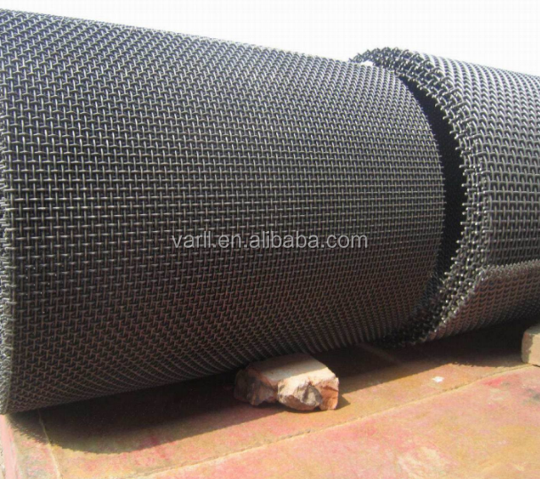 High tensile stone crusher crimped vibrating screen mesh