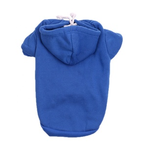 2019 Spring Plain Dog Hoodies, 100% cotton oem dog sweater clothes