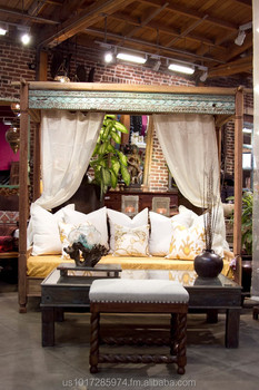 Indian Teak Canopy DayBed & Indian Teak Canopy Daybed - Buy Teak Indoor Or Outdoor Canopy ...