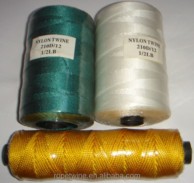 Nylon multifiliament twine from 210D/2-210D/120 thread