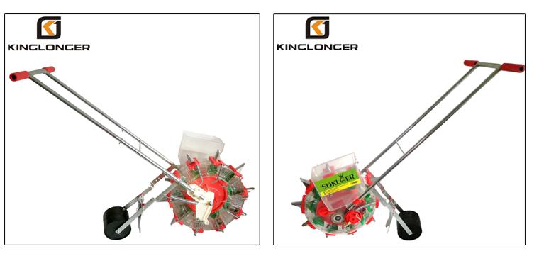 KINGLONGER KLG-10F फैक्टरी मूल्य हाथ धक्का मैनुअल सोयाबीन बीन बोने की मशीन