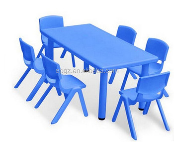 preschool table and chairs. High Quality Grade Modern Plastic Preschool Table And Chairs 6 Pcs With Metal Frame Of