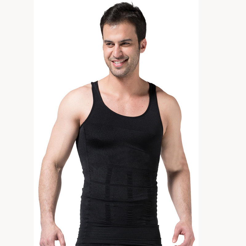 2015 Men's Sexy Slimming Body Shaper Belly Fatty thermal Underwear Men Sport Vest Shirt Corset Compression Hot Shapers Men Hot