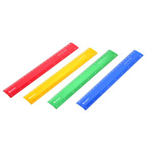 1/4 scale ruler 4 Colors High Quality Straight Safety Aluminum Optical Plastic Ruler