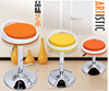 Swivel Fabric Round Bar Stool Footrest Covers, Modern Kitchen Counter Bar Stools