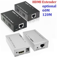 60M HDMI Extender 1080p 3D HDMI Signal amplifier expander Transmitter Receiver over Cat 5e/6 RJ45 Ethernet Converter