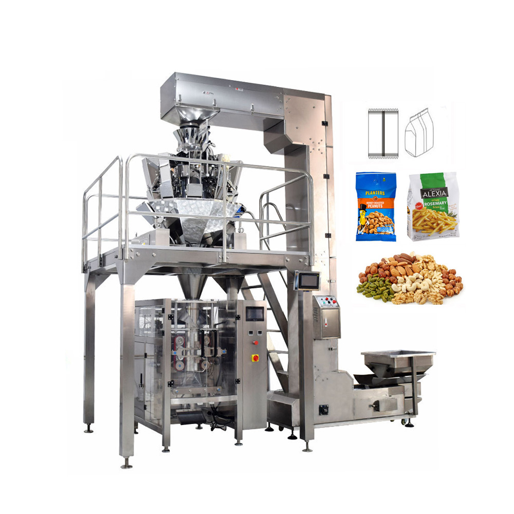 Vertical Automatic Sachet Grain Packing Machine For Granule Nuts/Beans/Peanuts