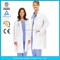 Unisex Lab Coats, Doctor Gown White Laboratory Lab Coat