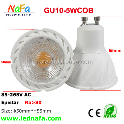 6W GU10 COB led spot lighting Halogen Equivalent to 50W , high cri>95 sharp cob gu10 led