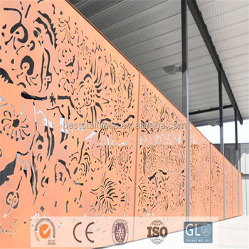 Garden Divider Laser Cut Outdoor Metal Screen Decorative Stainless Steel  Wall Panel